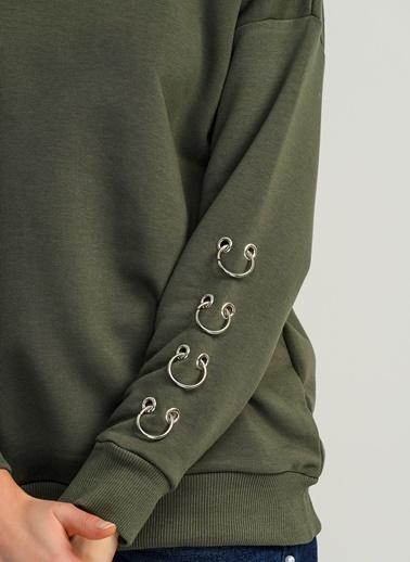 Kolları Piercing Detaylı Sweatshirt-People By Fabrika